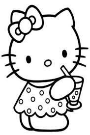 Small Picture Little Kitty Kids Coloring Pages with Colouring Pictures to Print