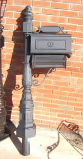 Aluminum mailbox post White Aluminum Coble Metal Works Ornamental Cast Aluminum Mailbox Posts