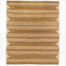 cream striped natural jute rug 9x12