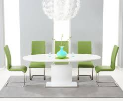 Oval Kitchen Table Sets High Kitchen Table With 6 Chairs Osaka White High Gloss Extending