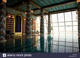 indoor infinity pool. Indoor Infinity Pool At The Ladies\u0027 Spa, Burj Al-Arab Hotel In Dubai, U.A.E
