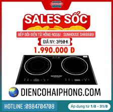 Bếp Đôi Điện Từ Hồng Ngoại Sunhouse SHB8609 - Điện Máy Đăng Khoa Hải Phòng  - Đồ gia dụng chính hãng giá cực rẻ