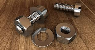 screw. Screw Thread Technology Mother Metal Hexag