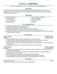 Food And Beverage Manager Resume Examples All New Resume