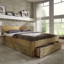 Doppelbett Bett Gestell Mit Schubladen 180x200 Kiefer Massiv Holz