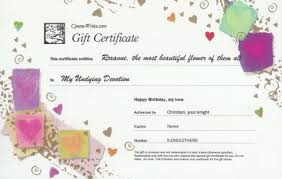 Love Letter Gift Certificate Postcard Overview