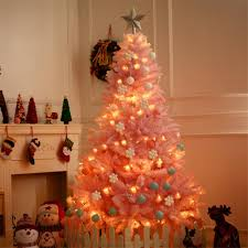 Blossom Christmas Tree With Led Lights 1 2m Cherry Blossom Pink Christmas Tree Decoration Deluxe Encrypted Christmas Tree Gifts With Led Lights Colorful Ball Decor