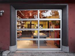 insulated glass garage doors with contemporary home office also concrete table conference room conference table exposed wood ceiling garage door gravel