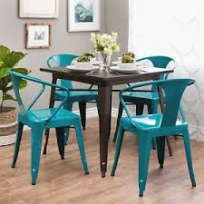 peacock blue furniture. Image Is Loading Metal-Dining-Chairs-4-Pcs-Set-Peacock-Blue- Peacock Blue Furniture R