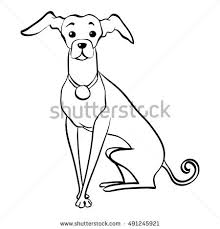 Small Picture Vector Sketch Funny Dog Italian Greyhound Stock Vector 435137149