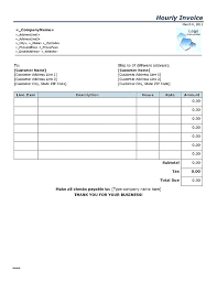 Hours Worked Invoice Template 14 Reinadela Selva Invoice For Hours