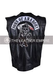 son of anarchy vest leather jacket