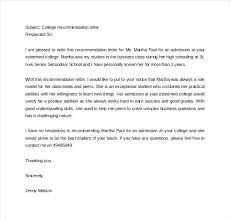 High School Recommendation Letter For Student Graduate School Recommendation Letter Template For Of Admission