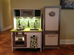 ikea duktig mini kitchen makeover added paint tile backsplash within kids mini kitchen intended for comfy