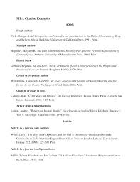 10 Example Of Mla Works Cited Page 1mundoreal