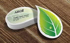Basil Leaf Die Cut Business Card Design On Behance Kreatif