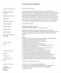 Resume Pdf Templates Accountant Resume Format Pdf Download Free