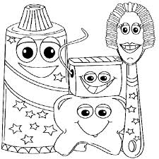Small Picture Example Picture of Dental Health Coloring Page Example Picture of