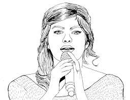 Coloriage De Louane Louane Coloring Page French Singer