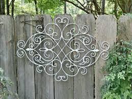 white shabby chic metal wall decor fleur de lis patio indoor outdoorblack iron outdoor art flowers