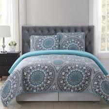Buy Grey Quilt Set from Bed Bath & Beyond & Truly Soft Kalen King Quilt Mini Set in Grey/Blue Adamdwight.com