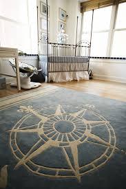 blue compass rug for a nautical theme boy s room nursery
