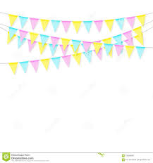 Celebrate Banner Colorful Realistic Soft Colorful Flag Garland With Shadow
