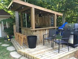 backyard pool bar. Tiki Bar - Backyard Pool Built With Old Patio Wood