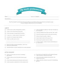 Birth Plan For C Section Template Printable Birth Plan Templates Checklist C Section Template