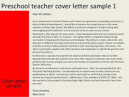 Ideas Collection Sample Cover Letter For Preschool Teacher With No