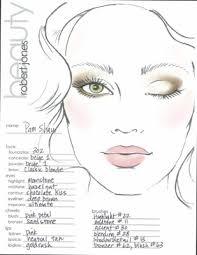 makeup artist face template view larger image se