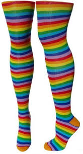plus size thigh high socks rainbow thigh high socks new bright colorful over the knee at amazon