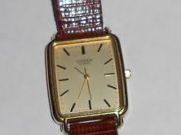 vintage citizen quartz men 039 s watch rectangle face leather vintage citizen quartz men 039 s watch rectangle