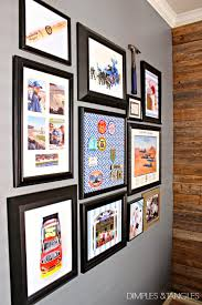 boy s gallery wall and souvenir patch artwork