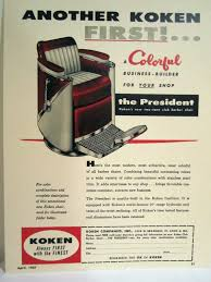 Vintage 1950 S Koken President Two Tone Club Barber Chair Color