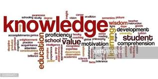 Word Cloud Containing Words Related To Knowledge Stock Vectors