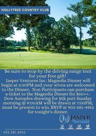 magnolia dinner information