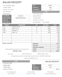 Sample Commercial Receipt Template Receipt Templates Business
