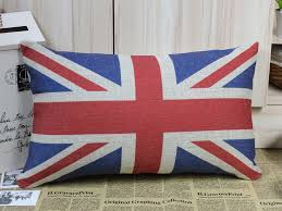 aliexpress com linkwell free 50x30cm sherlock holmes props union jack uk pillow cover linen chair cover pillowcase from reliable linen