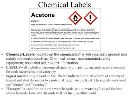 chemical information sheet the globally harmonized system of classification and labelling