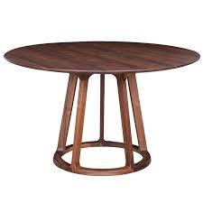 aldo round dining table walnut