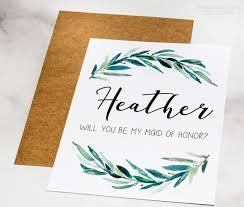 Party Proposal Impressive Bridal Party Proposal Card Custom Name Bridesmaid Proposal Etsy