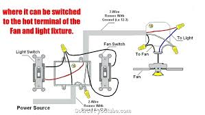 ceiling fan and light switch wiring a ceiling fan with light and fan switch how to