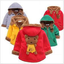 Fashion <b>2016 Winter</b> Baby Boys <b>Girls</b> Cartoon Bear Coats Children ...