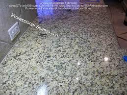 granite seam joint countertop
