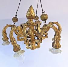 antique erhard sohne gilded 6 arm light fitting chandelier for dolls house 1 sur 7seulement 1 disponible voir plus