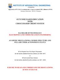 Ece Autonomous Regulations And Syllubus_6 | Course Credit | Academic ...