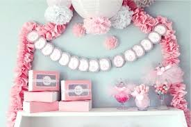 baby shower for girl decoration ideas pink