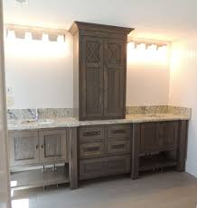 furniture style vanity. Furniture Style Bathroom Vanity In White Oak With Grey Brown Stain Throughout