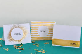 DIY Gilded Thank You Cards